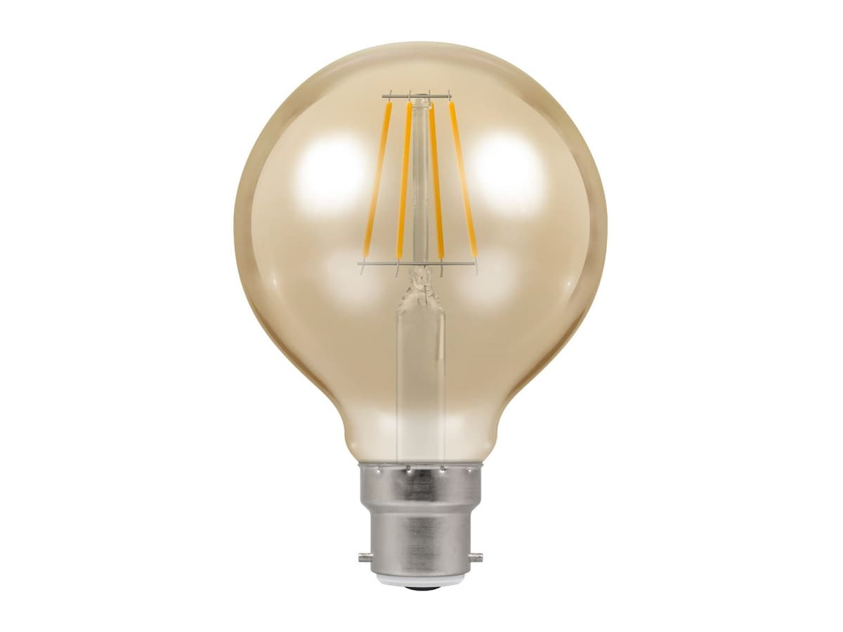 5w BC 80mm Globe Dimmable LED Filament – Crompton