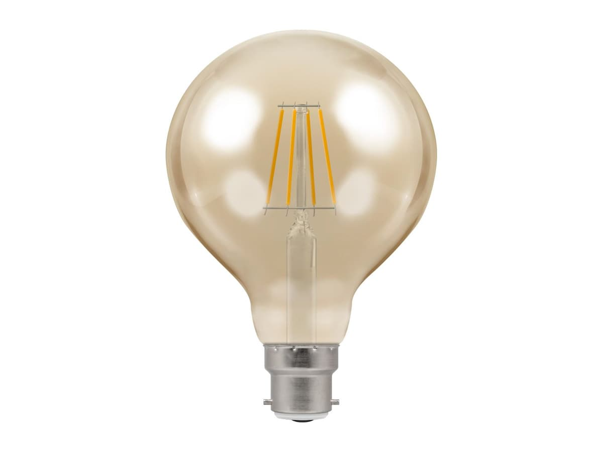 5w BC 95mm Globe Dimmable LED Filament – Crompton