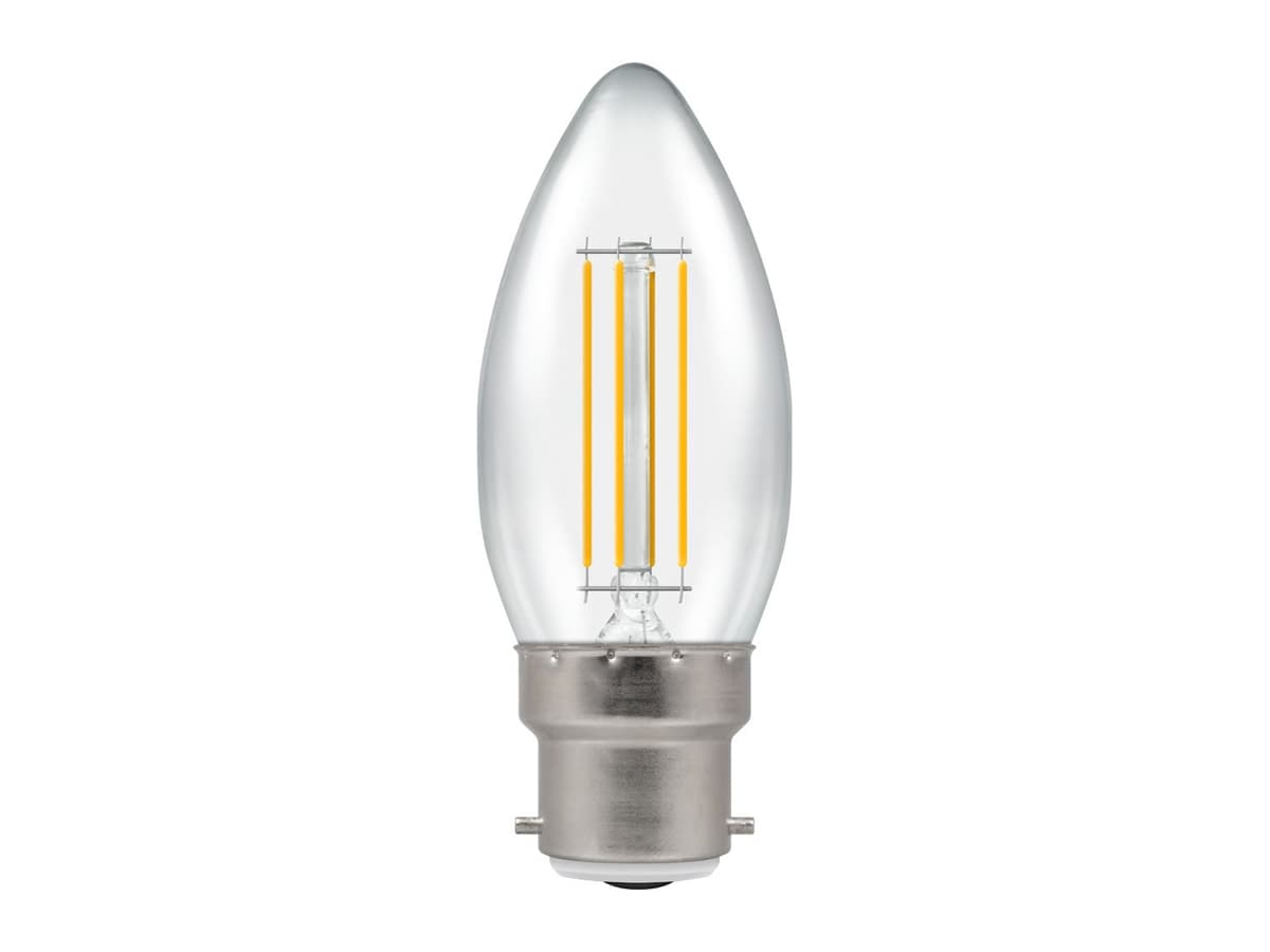 4w BC Candle LED Filament Crompton