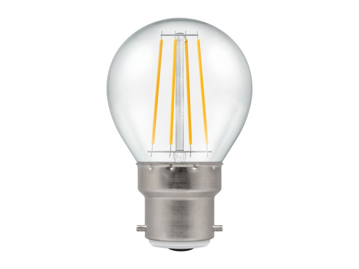 5w BC Round Dimmable LED Filament Crompton