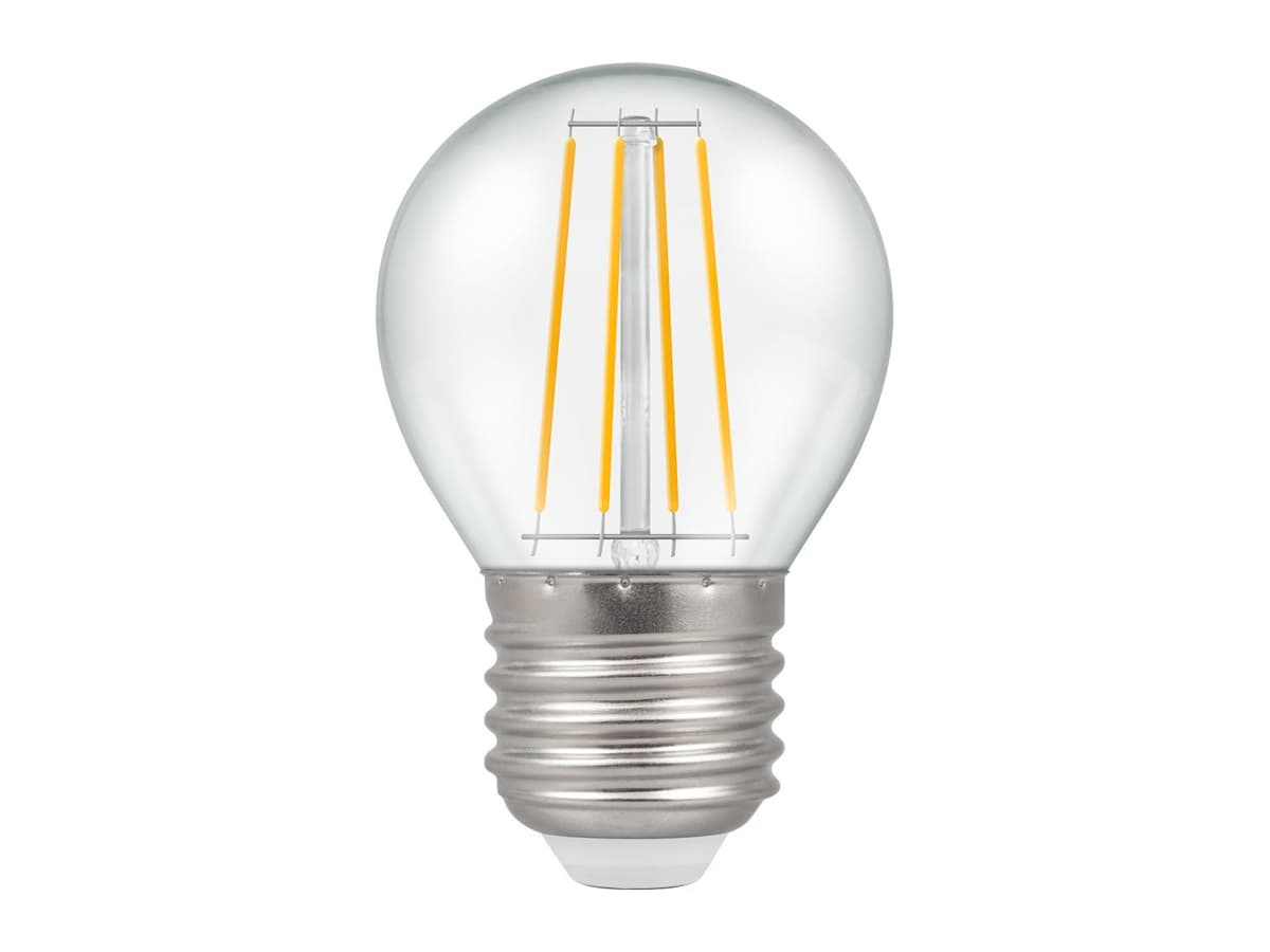 5w ES Round Dimmable LED Filament Crompton