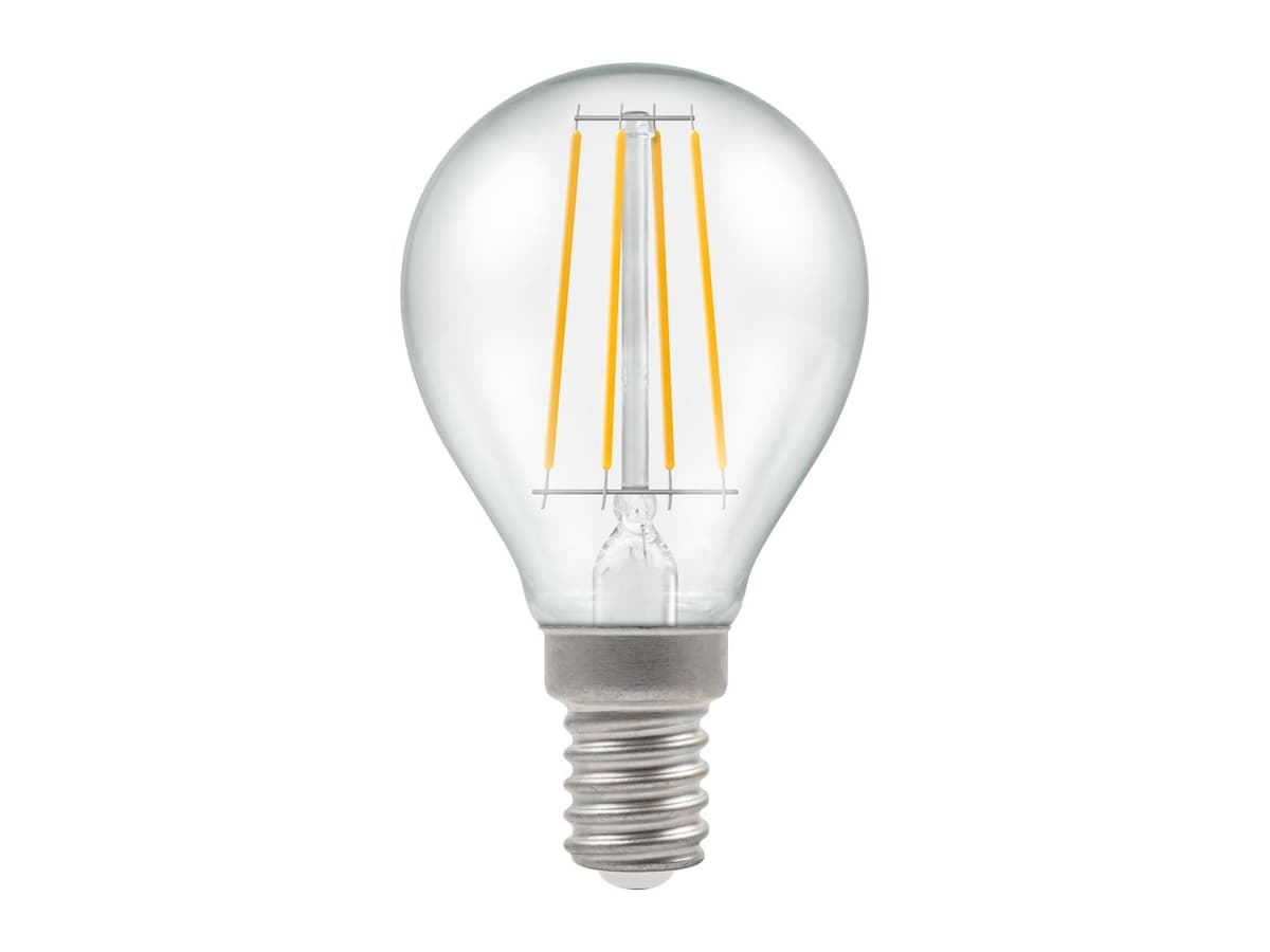5w SES Round Dimmable LED Filament Crompton