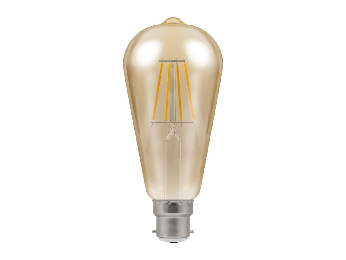 7.5w BC Squirrel Cage Dimmable LED Filament – Crompton