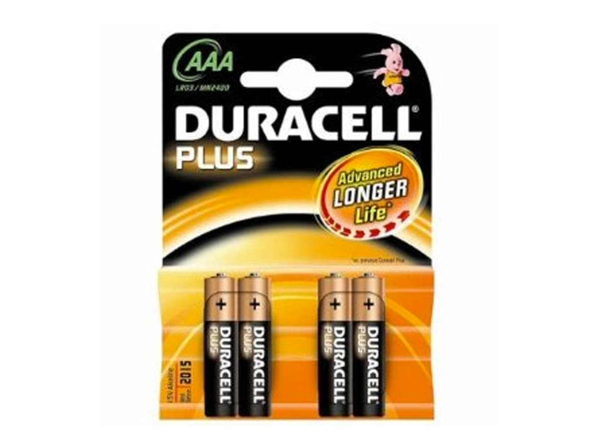 Duracell Plus AAA Battery – 4 Pack