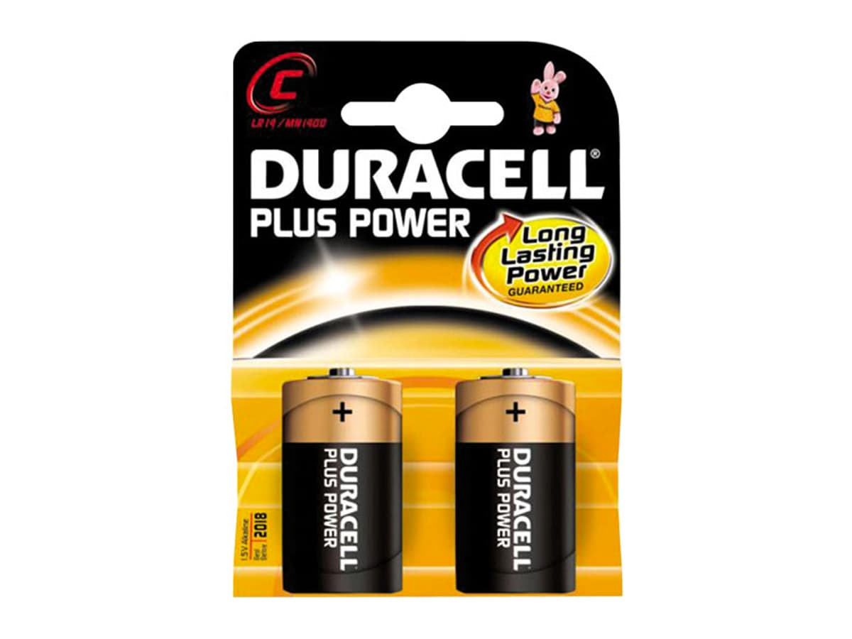 Duracell Plus C Battery – 2 Pack
