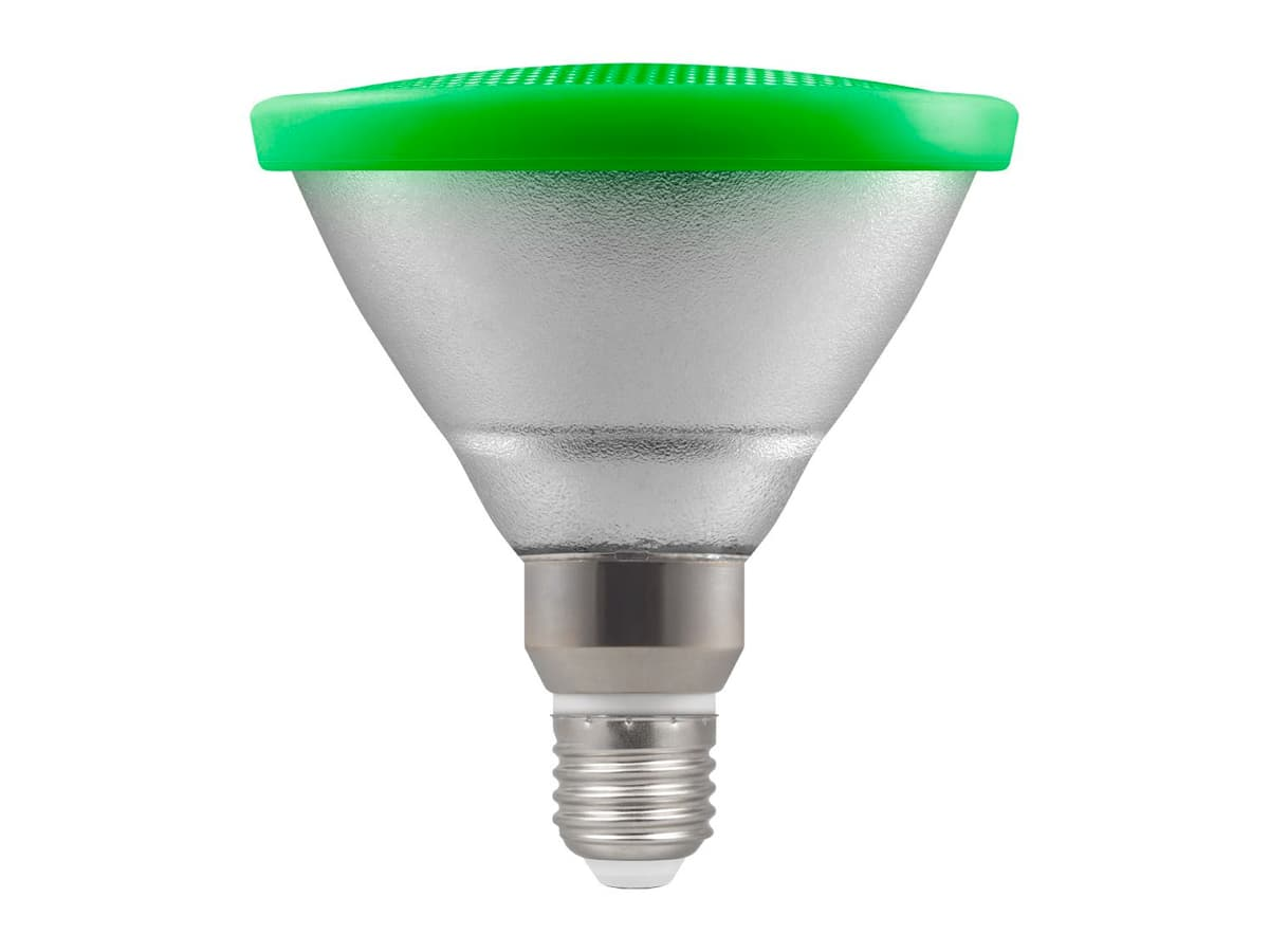 13w Par38 LED Coloured Reflector Lamp – Green