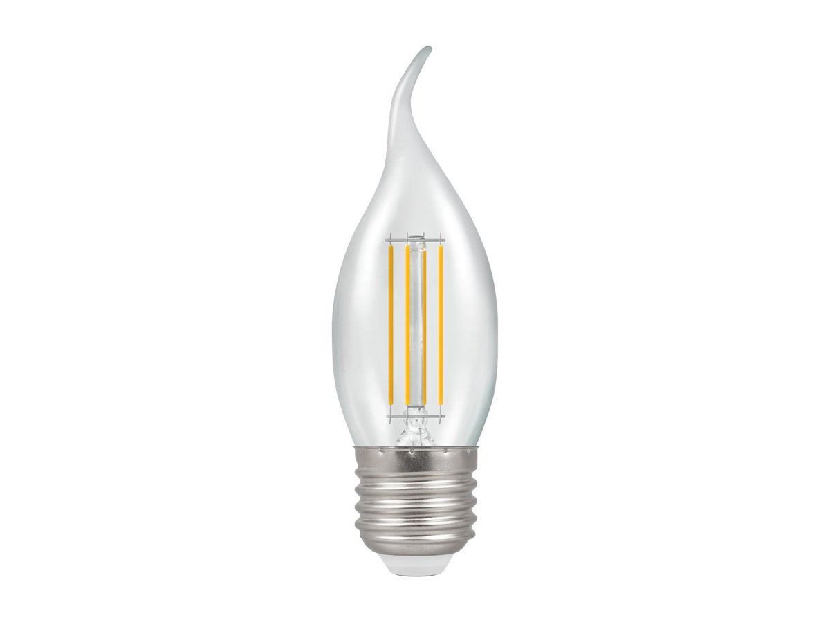 5w ES/E27 Dimmable LED Bent Tip Filament Candle Crompton