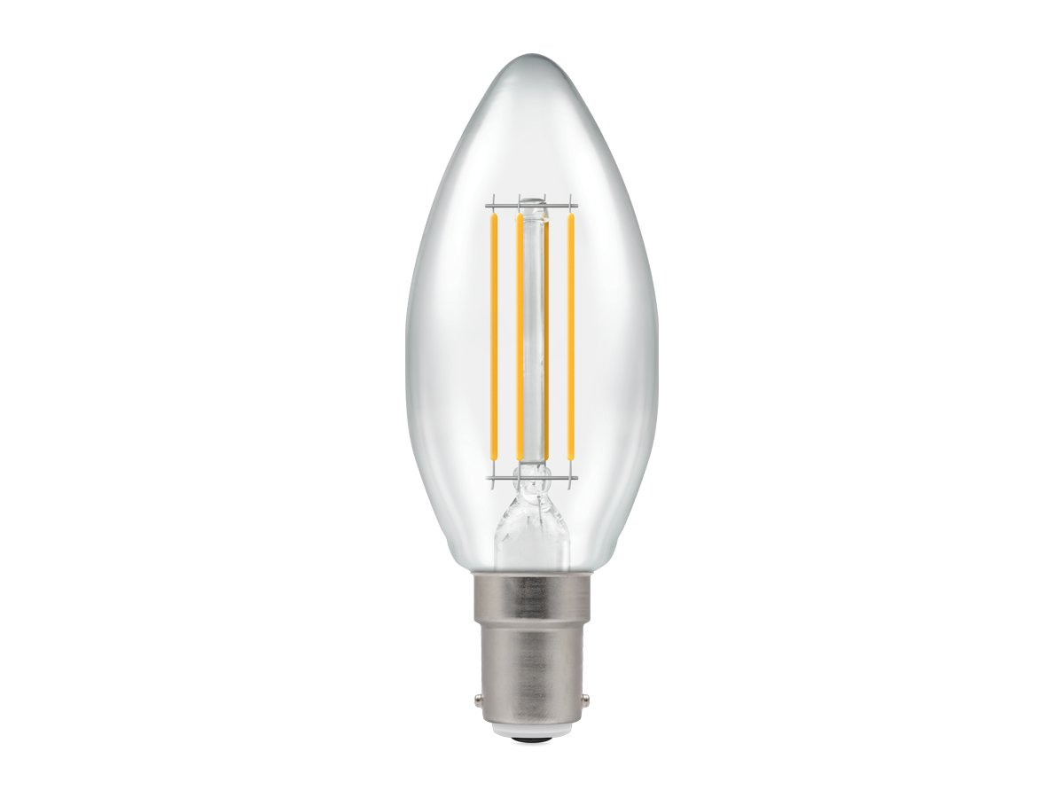 5w SBC Dimmable Candle LED Filament Crompton