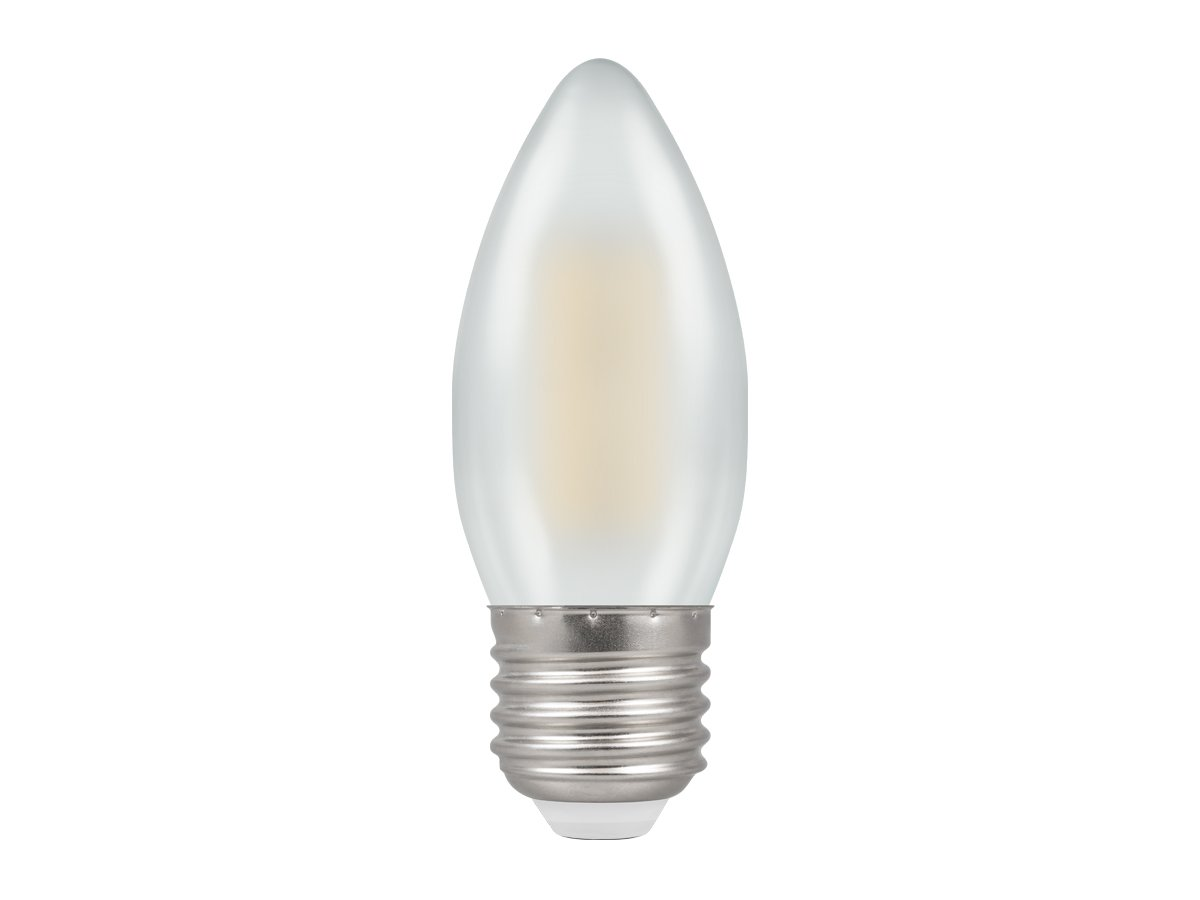 5w ES/E27 Dimmable Candle LED Pearl Filament Crompton