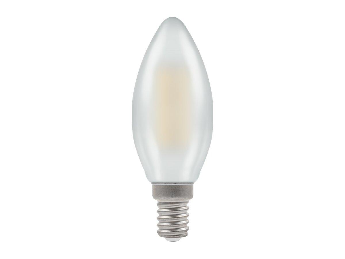 4w SES/E14 Candle LED Pearl Filament Crompton