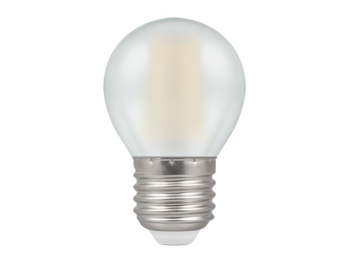 5w ES/E27 Round Dimmable LED Pearl Filament Crompton