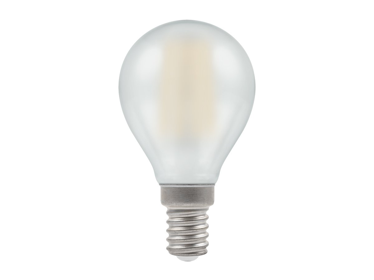 5w SES Round Dimmable LED Pearl Filament Crompton